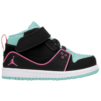 Jordan 1 Flight 2 - Girls' Toddler - Aqua / Pink