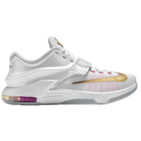 Nike KD 7 - Boys' Grade School - Kevin Durant - White / Gold