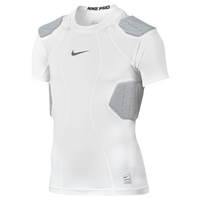 Nike Hyperstrong 4-Pad Top - Boys' Grade School - White / Grey