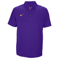Nike Team Sideline Dry Elite Polo - Men's - Purple / Yellow