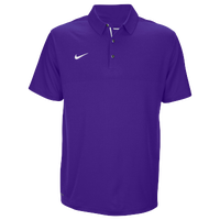 Nike Team Sideline Dry Elite Polo - Men's - Purple / Purple