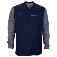 Nike Team Sideline Coach 1/2 Zip Top - Men's - Navy / Red