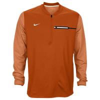 Nike Team Sideline Coach 1/2 Zip Top - Men's - Orange / White