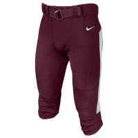 Nike Team Vapor Pro Pants - Men's - Maroon / White
