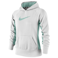 Nike KO 2.0 Hoodie - Girls' Grade School - White / Light Green
