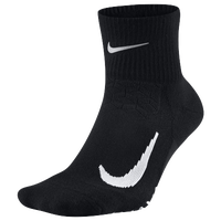 Nike Dri-FIT Elite Running Cushion Quarter - Black / White