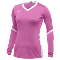 Nike Team Hyperace Long Sleeve Game Jersey - Women's - Pink / White