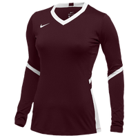 Nike Team Hyperace Long Sleeve Game Jersey - Women's - Maroon / White