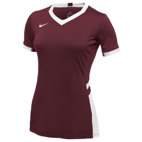 Nike Team Hyperace Short Sleeve Game Jersey - Women's - Cardinal / White