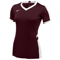 Nike Team Hyperace Short Sleeve Game Jersey - Women's - Maroon / White