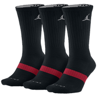 Jordan Dri-Fit Crew Sock 3 Pack - Black / Red
