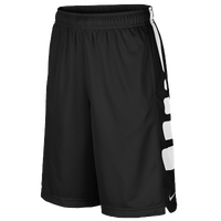 Nike Elite Stripe Shorts - Boys' Grade School - Black / White
