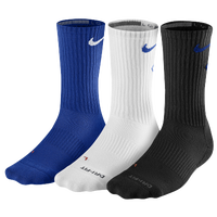 Nike 3 Pack Dri-Fit Fly Crew 1 Socks - Men's - Blue / White