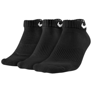 Nike 3 Pack Moisture MGT Cushion Low Cut Sock - Men's - Black/White