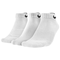 Nike 3 Pack Moisture MGT Cushion Low Cut Sock - Men's - All White / White