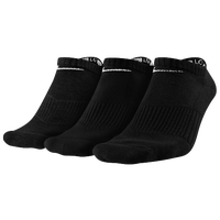 Nike 3 Pack Moisture MGT Cushion No Show Sock - Men's - All Black / Black