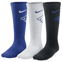 Nike 3 Pack Graphic Cushioned Crew Socks - Boys' Grade School - Blue / White