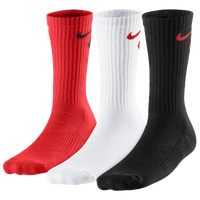 Nike 3 Pack Graphic Cushioned Crew Socks - Boys' Grade School - Red / White