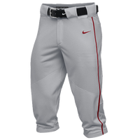 Nike Team Vapor Pro Piped High Pants - Men's - Grey / Red