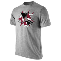 Jordan Splatter Canvas T-Shirt - Men's - Grey / Maroon