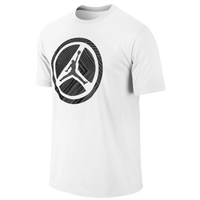 Jordan Lined Wheel T-Shirt - Men's - White / Black