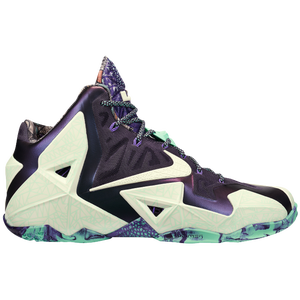Nike LeBron 11 - Men's - Cashmere/Green Glow/Purple Dynasty