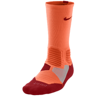Nike Hyper Elite Basketball Crew Socks - Men's - Orange / Red