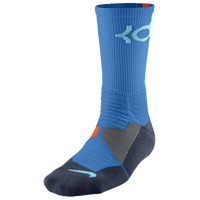 Nike KD Hyper Elite Crew Socks - Men's - Kevin Durant - Light Blue / Orange