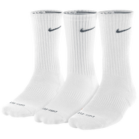 Nike 3PK Dri-Fit 1/2 Cushion Crew Socks - Men's - White / Black