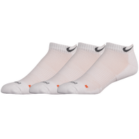Nike 3PK Dri-Fit 1/2 Cushion Lowcut Socks - Men's - All White / White