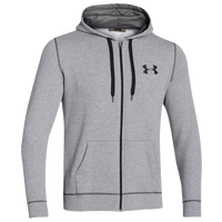 Under Armour Rival Full Zip Hoodie - Men's - Grey / Black