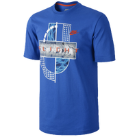 Nike Q SN+ True Flight Posite T-Shirt - Men's - Blue / White