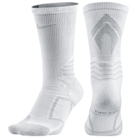 Nike Elite Vapor Baseball Crew Socks - Men's - White / Grey
