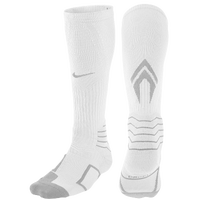 Nike Elite Vapor Baseball OTC Socks - Men's - White / Grey
