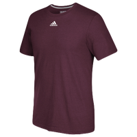 adidas Team Go To Performance T-Shirt - Men's - Maroon / Maroon