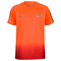 Nike Squad Dry S/S Top - Youth - Orange / Silver