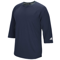 adidas Fielder's Choice 3/4 Sleeve T-Shirt - Men's - Navy / Grey