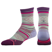 Stance Fusion Run Crew Socks - Women's - Purple / Multicolor