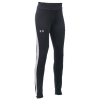 Under Armour ColdGear Leggings - Girls' Grade School - Black / Grey