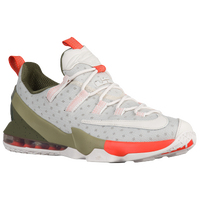 Nike LeBron XIII Low - Men's -  LeBron James - Grey / Olive Green