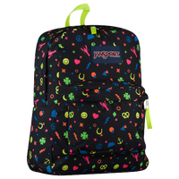 JanSport Superbreak Backpack - Black / Multicolor