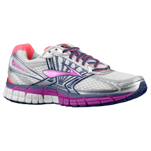 Brooks Adrenaline GTS 14 - Women's - White/Fuchsia/Midnight