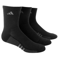 adidas Climacool Superlite 3 Pack Crew Socks - Men's - Black / Grey