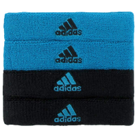 adidas Interval 3/4-inch Bicep Bands - Light Blue / Black