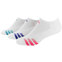adidas Variegrated 3 Pack No Show Socks - Women's - White / Pink