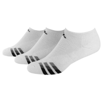 adidas 3-Stripe 3 Pack No Show Socks - Men's - White / Black