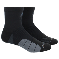 adidas Traxion Menace Quarter Socks - Men's - Black / Grey