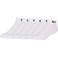Nike 6 Pack Cotton Low-Cut Socks - Men's - All White / White