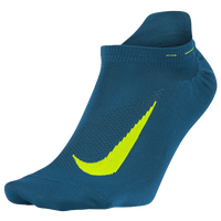 Nike Elite Run Lightweight No Show Tab - Navy / Light Green