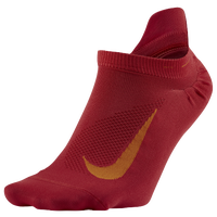 Nike Elite Run Lightweight No Show Tab - Red / Orange